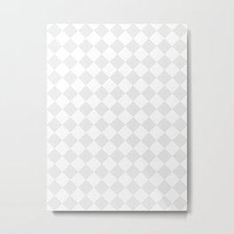 Diamonds - White and Pale Gray Metal Print