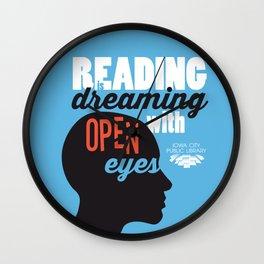 Open Eyes - Iowa City Public Library Wall Clock