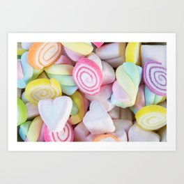 Pastel Rainbow Candy Art Print