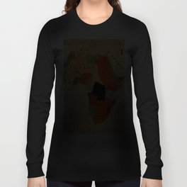 Map Of Africa 1908 Long Sleeve T-shirt