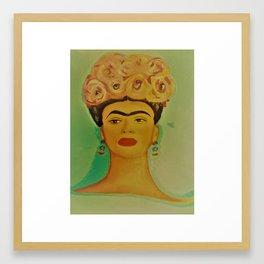 Vintage Kahlo Framed Art Print
