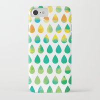 rain iPhone & iPod Cases featuring Monsoon Rain by Picomodi