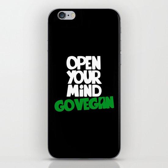 Open Your Mind Go Vegan iPhone & iPod Skin