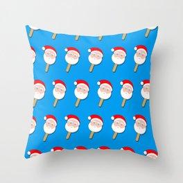 santa clause bubble gum ice cream Throw Pillow