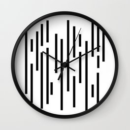 Minimal Lines - Black Wall Clock