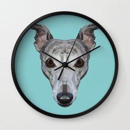 Whippet // Blue Wall Clock