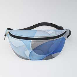 Abstract with Shades of Blue Fanny Pack
