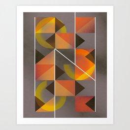 Mirrors - Composition in Orange Art Print