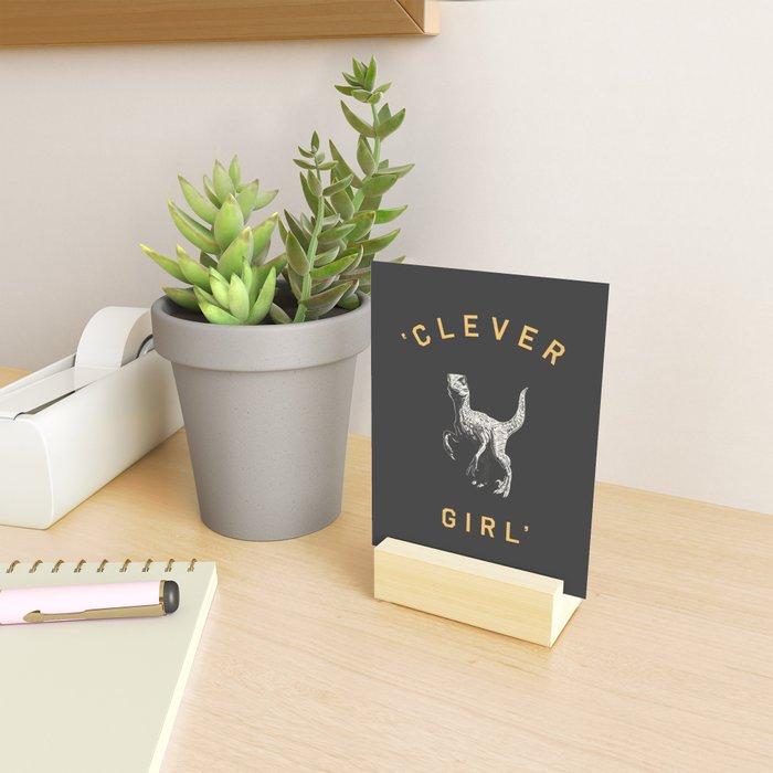 Clever Girl (Dark) Mini Art Print