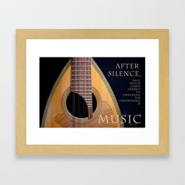 After Silence, Music Framed Art Print