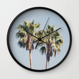 2 Palms Wall Clock