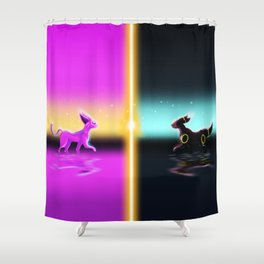 Umbreon and Espeon Shower Curtain