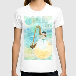 Harp girl: Music from the moon T-shirt
