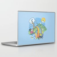 pasta Laptop & iPad Skins featuring Rainbow Pasta by Ian Byers