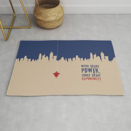 Lab No. 4 - Great power comes great responsibility Voltaire Quotes Poster Rug