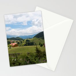 A rural green landscape of Romania Stationery Cards