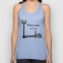 Historic Portland, Oregon by Seasons K Designs Unisex Tank Top