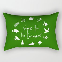 Vegans for The Enviornment Rectangular Pillow