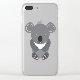 koala Seamless pattern with funny cute animal on a blue background Clear iPhone Case