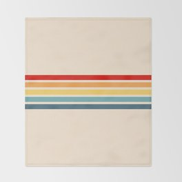 Takaakira - Classic Rainbow Retro Stripes Throw Blanket