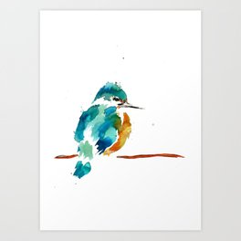 Golden Kingfisher Art Print