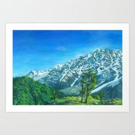 Himalaya mountains Art Print