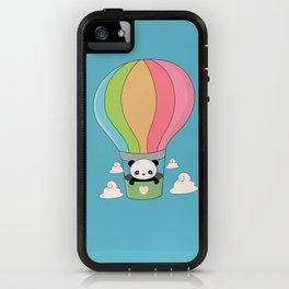Kawaii Panda Bear Hot Air Balloon iPhone Case