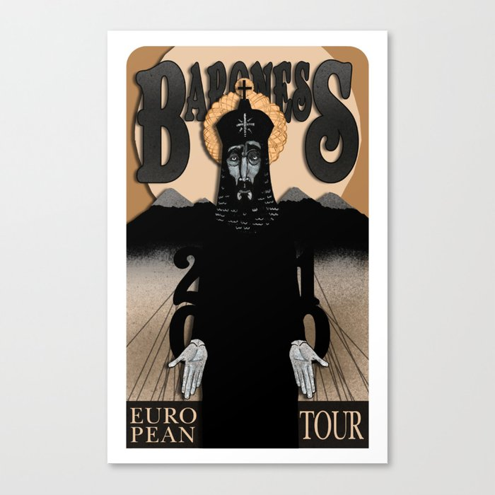 Baroness Poster Canvas Print