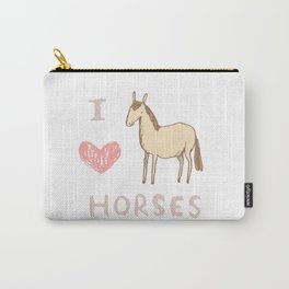 I ❤ Horses Carry-All Pouch
