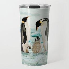 Emperor Penguin Family Travel Mug
