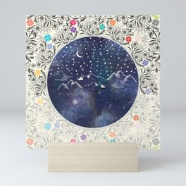 Beautiful starry night Mini Art Print