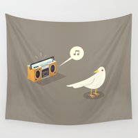 muppet Wall Tapestries featuring Bird music  by simon oxley idokungfoo.com