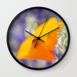 Peeking Poppy Wall Clock