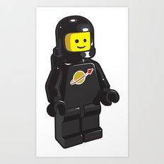 Vintage Lego Black Spaceman Minifig Art Print