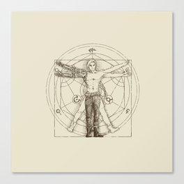Vitruvian Alchemist Canvas Print