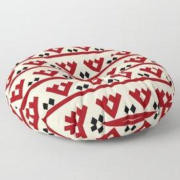 geometric flower 97 ceramic colors Floor Pillow