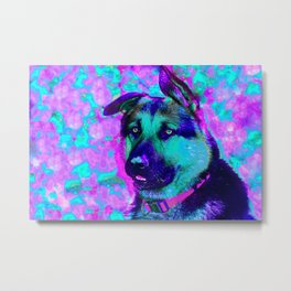Artistic Dog Expression Metal Print