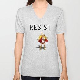 """She-Ra says """"RESIST"""" Unisex V-Neck"""