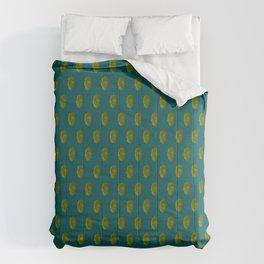 Hops Dark Cyan Pattern Comforters
