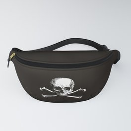 Skull and Crossbones | Jolly Roger | Pirate Flag | Black and White | Fanny Pack