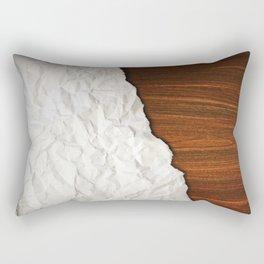 Wooden Crumbled Paper Rectangular Pillow