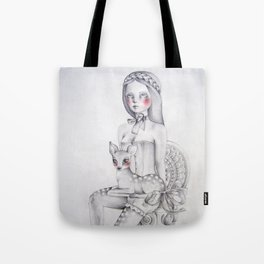The girl and the fawn Tote Bag