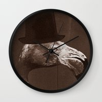 gentleman Wall Clocks featuring Gentleman by Alexander Wansuk Ohlsson
