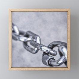 Chain Link Framed Mini Art Print