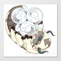 appa Canvas Prints featuring Appa Air Symbol by Pazzy