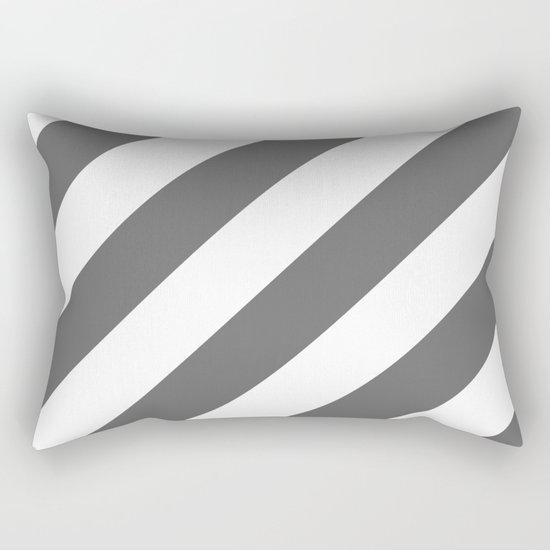 Gray diagonal striped pattern Rectangular Pillow