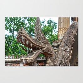 Dragon at Ho Phra Keo, Vientiane Canvas Print