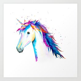 Rainbow Unicorn Art Print