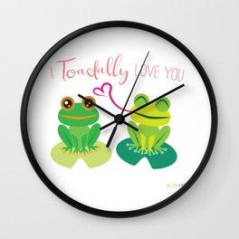 I Toadally Love You Wall Clock