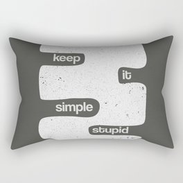 Kiss - Keep it simple stupid - Black and White Rectangular Pillow
